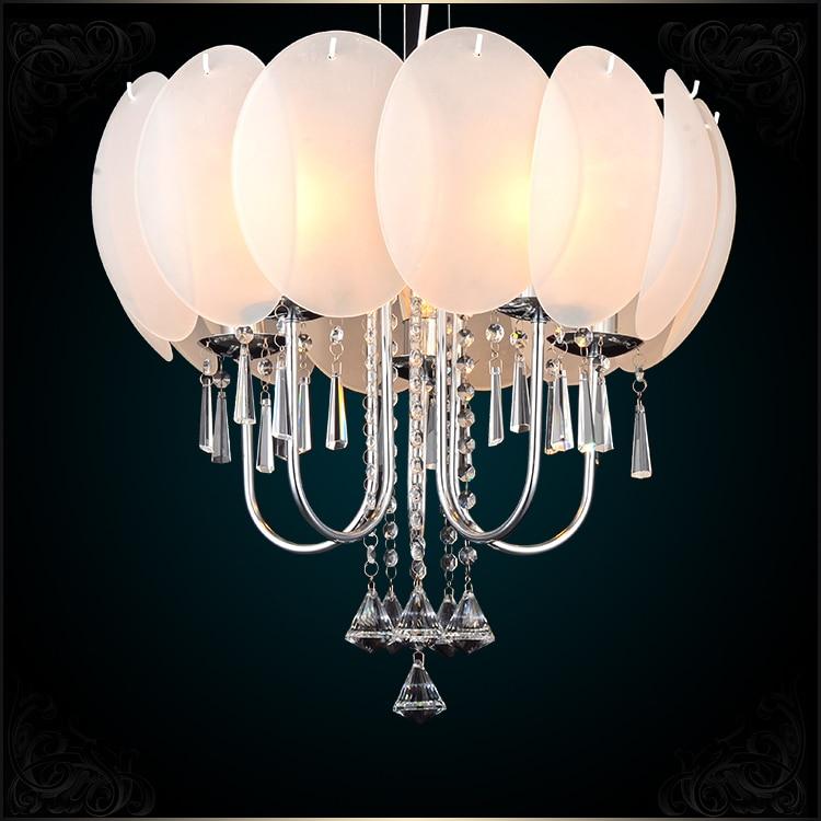 Flower pendant lights creative warm luxury living room dining room bedroom glass crystal pendant lamps ZA