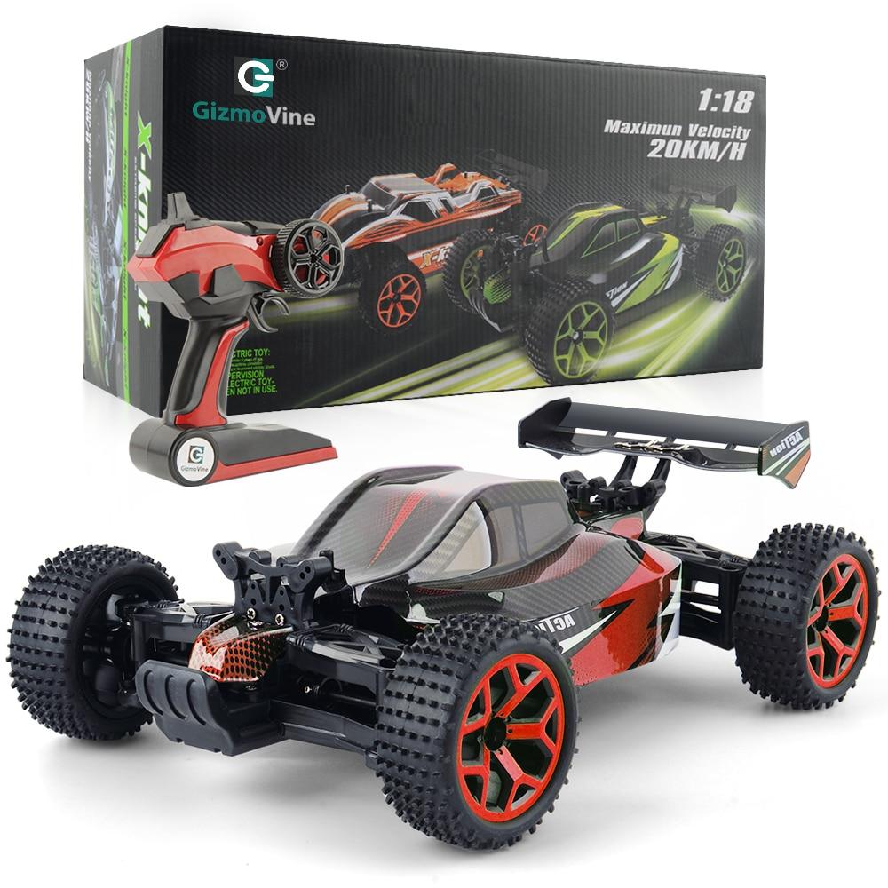 1/18 coche RC 2,4g 4CH 4WD 20 km/h de alta velocidad coches Scal juguete RC Rock rastreadores doble motores de coche buggy coche de Control remoto de regalo de Navidad