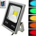 LED Flood Light 10W 20W 30W 50W RGB remote 24key controller Waterproof IP65  Floodlight Garden Spotlight Outdoor Lamp 110v 220v