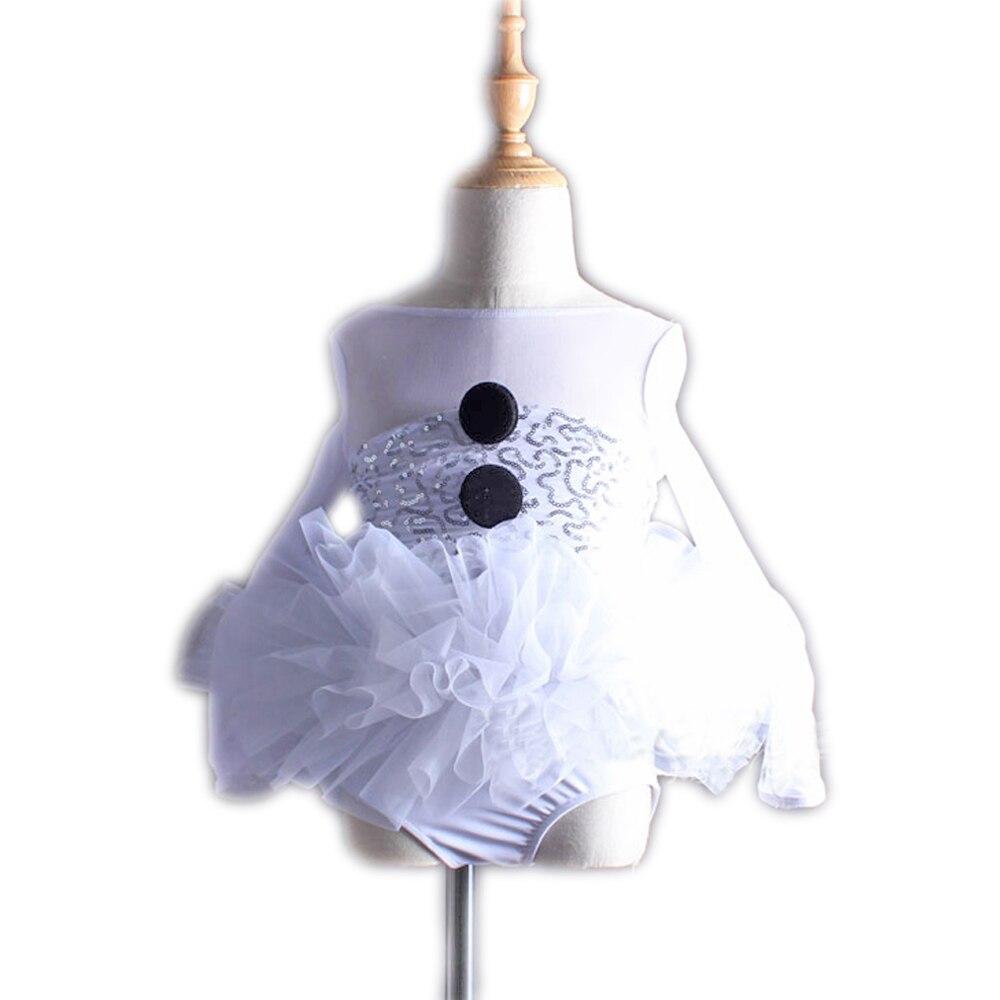 Filles chaudes blanc Tutu Ballet robe pour bébé noël cadeau fête gymnastique justaucorps pour filles professionnel Ballet Tutu