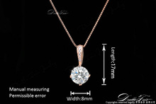 Necklaces & Pendants Chain Rose Gold Plated Fashion Crystal