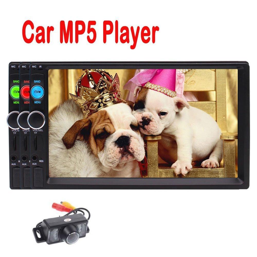 HD 7 2 DIN в тире Bluetooth стерео mp5 плеер MP3/MP4/USB/TF/ fm Радио Развлечения видео  ...