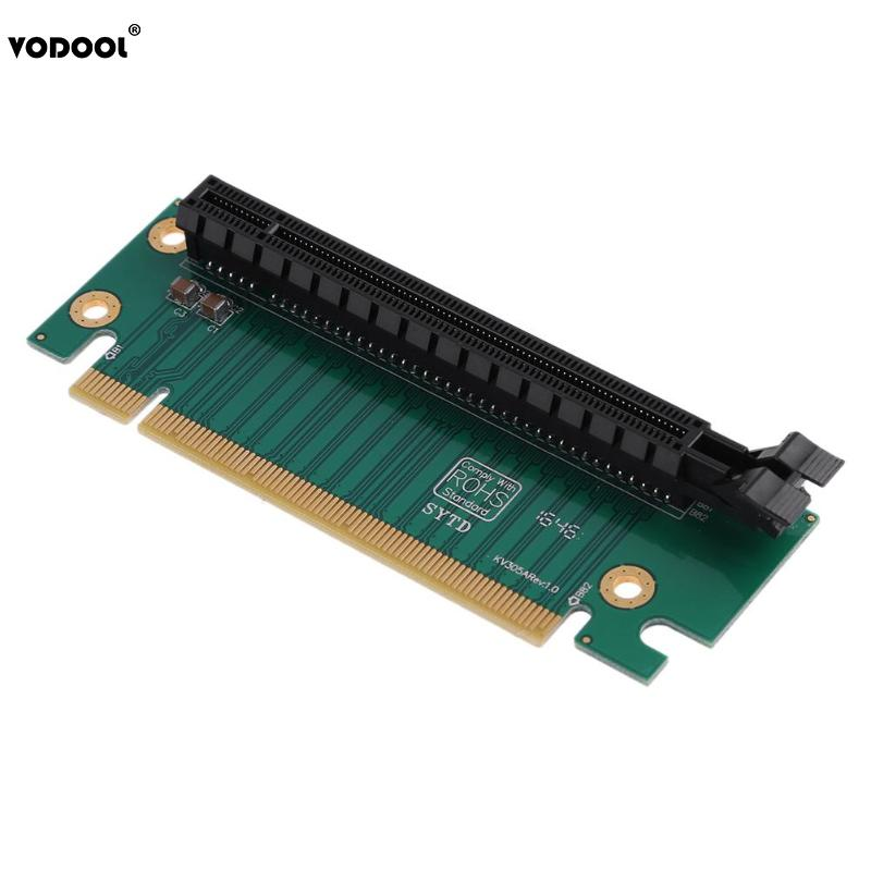 VODOOL PCI-E PCI Express 16X 90 Degree Adapter Riser Card For 2U Computer Case Chassis PC Converter Expansion Card Components computer component