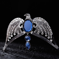 Ravenclaw Lose Crown Horcrux Bridal Hairbands Silver Eagle Animal Blue Crystal Headbands Harry Potter Wedding Hair