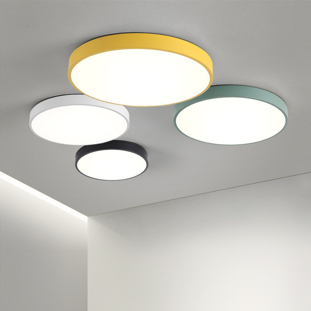 351ea7197a Modern Simple LED Ceiling Light Nordic Colorful Slim Round Ceiling Lamp for  Living Room Bedroom Kitchen Study Office