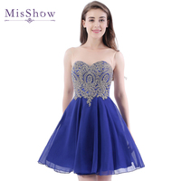 [Final Clear out] A Line Sheer Scoop Neckline Royal Blue Chiffon Homecoming Dresses 2018 Short Party Prom Dress Homecoming Dress