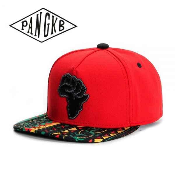 7ba1c4fd35d PANGKB Brand P.O.W.E.R. CAP red black snapback hat for men women adult  sports hip hop outdoor