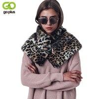 GOPLUS Vrouwen Winter Zachte Faux Bontkraag Sjaals Mode Luipaard Womens Cape Pashmina Warm Wrap Stole Elegante Sjaal Bont Cloaks