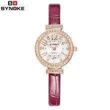 Corea del Reloj de Las Mujeres de Cuero Delgada correa de Cuarzo Relojes de Marca de Lujo de Diamantes Populares de Moda Casual Relojes de Pulsera Relogio feminino NUEVA