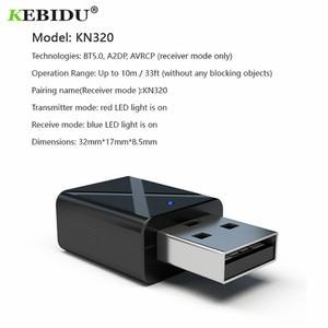 Image 5 - KEBIDU USB Bluetooth Ontvanger Zenders 5.0 Draadloze Audio Muziek Stereo adapter Dongle voor TV PC Bluetooth Speaker Hoofdtelefoon