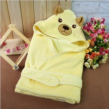 New Cartoon Sleeping Hooded Baby Blanket Soft Cotton Coral Fleece Bathrobe Warm Swadding Blanket High Quality swaddleme Wrap
