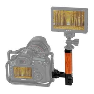 """Image 5 - NICEYRIG Camera drewniany uchwyt górny uchwyt kamery z uchwytem drewniana górna uchwyt rękojeści ser NATO 15mm zacisk pręta zimny but 1/4 """"3/8"""" śruba"""