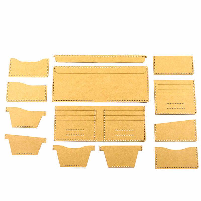 13 Pcs Neue Klaren Acryl Geldbörse Muster Schablone Template Set Leder Handwerk DIY Werkzeug Nähen muster nähen schablonen