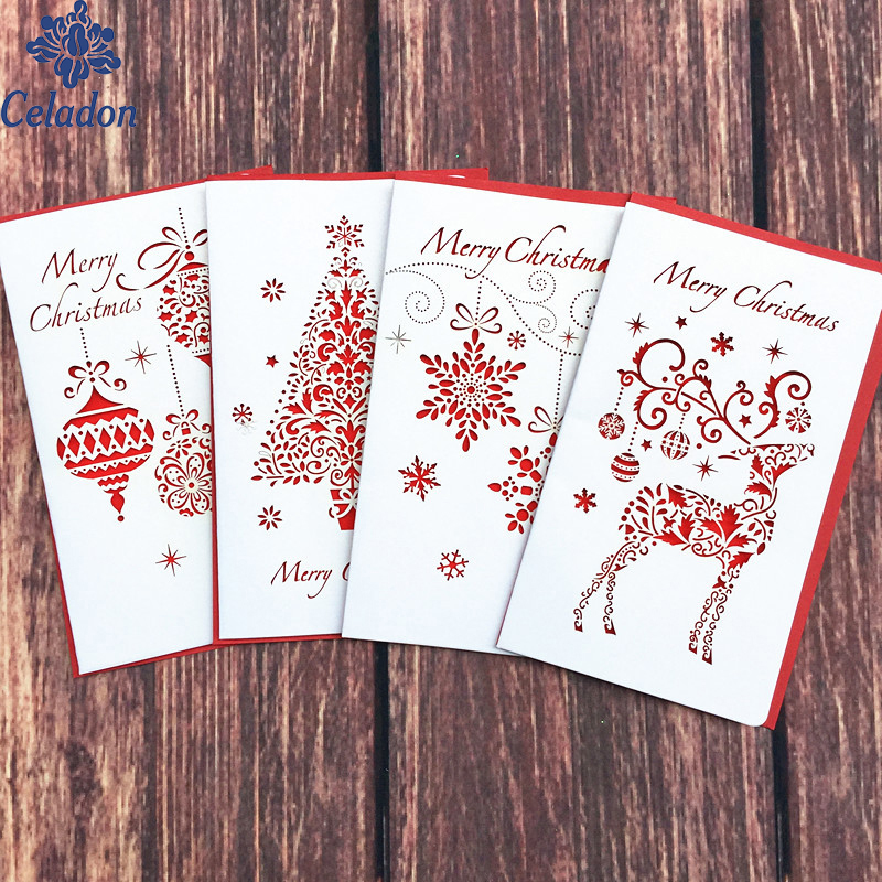 Super Cute Creative Paper Cutting Merry Christmas Cards ...