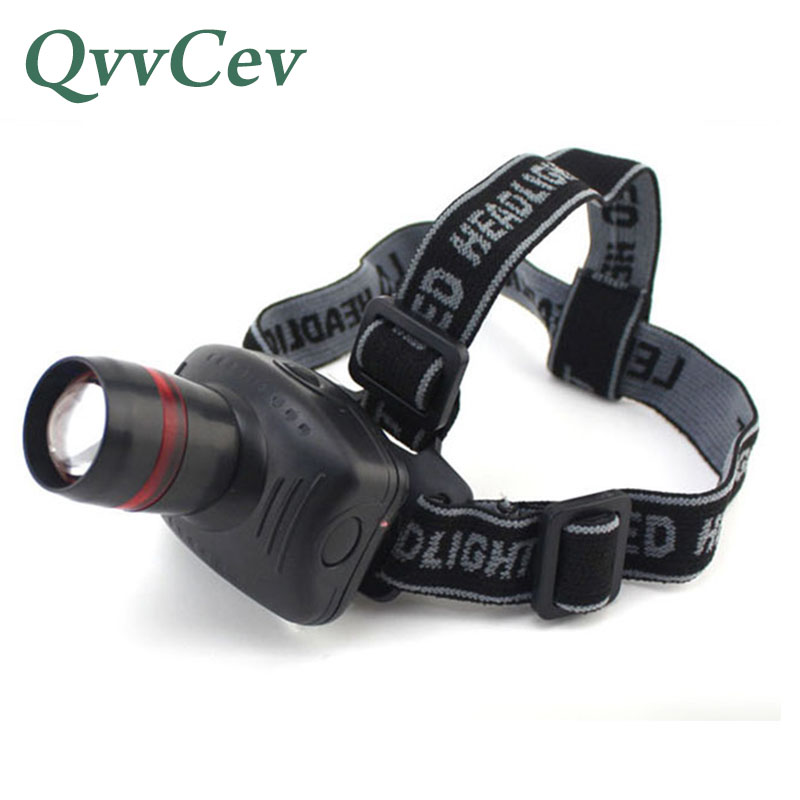Zoomable LED Headlights 3W LED Headlamp AAA Battery High Power Head Lamp Light Flashlight Torch For Hunting Fishing Camping
