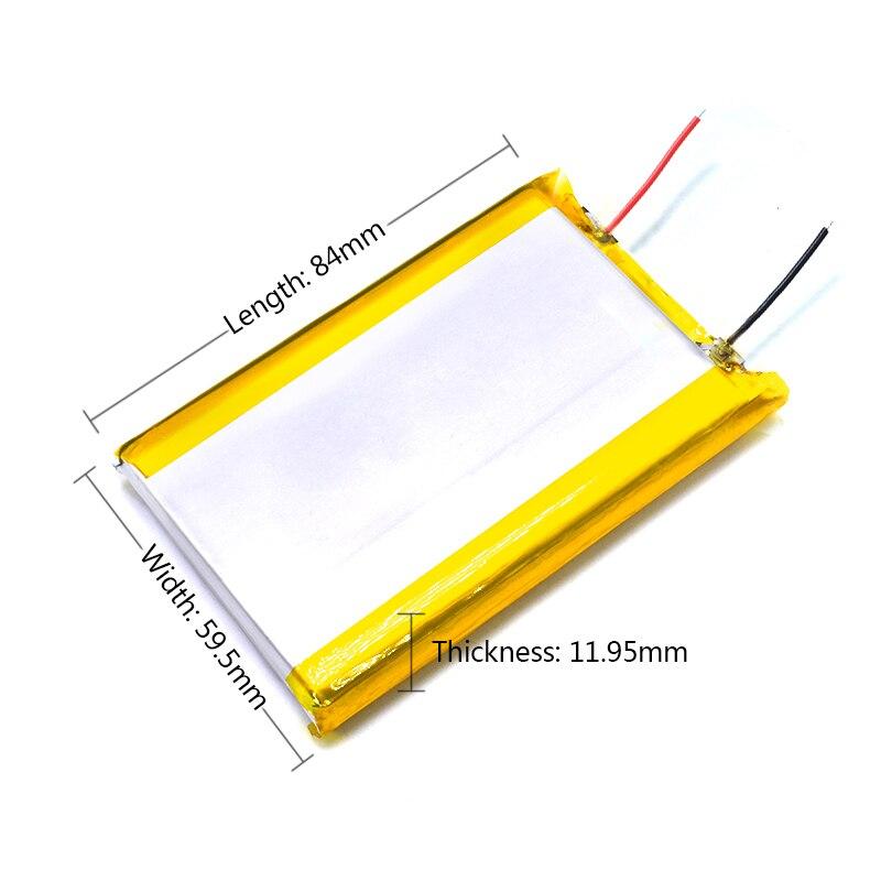 126090 5V Reale Kapazität 10000mah (polymer Lithium-ionen Batterie) li-ion Batterie für Tablet Pc 7 Zoll MP3 MP4 für Dropship