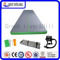 Великие реки Hill фитнес коврик надувной воздушный трек на свежем воздухе серый и зеленый 8 м x 1 м x 10 см