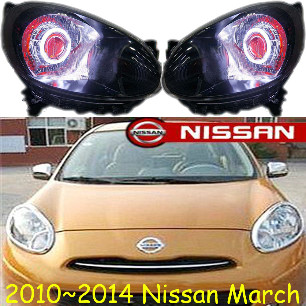 March headlight,2010~2015,(LHD/RHD),Free ship! March fog light,2ps/set+2pcs Ballast, sylphy,March teana fog light 2pcs set led sylphy daytime light free ship livina fog light