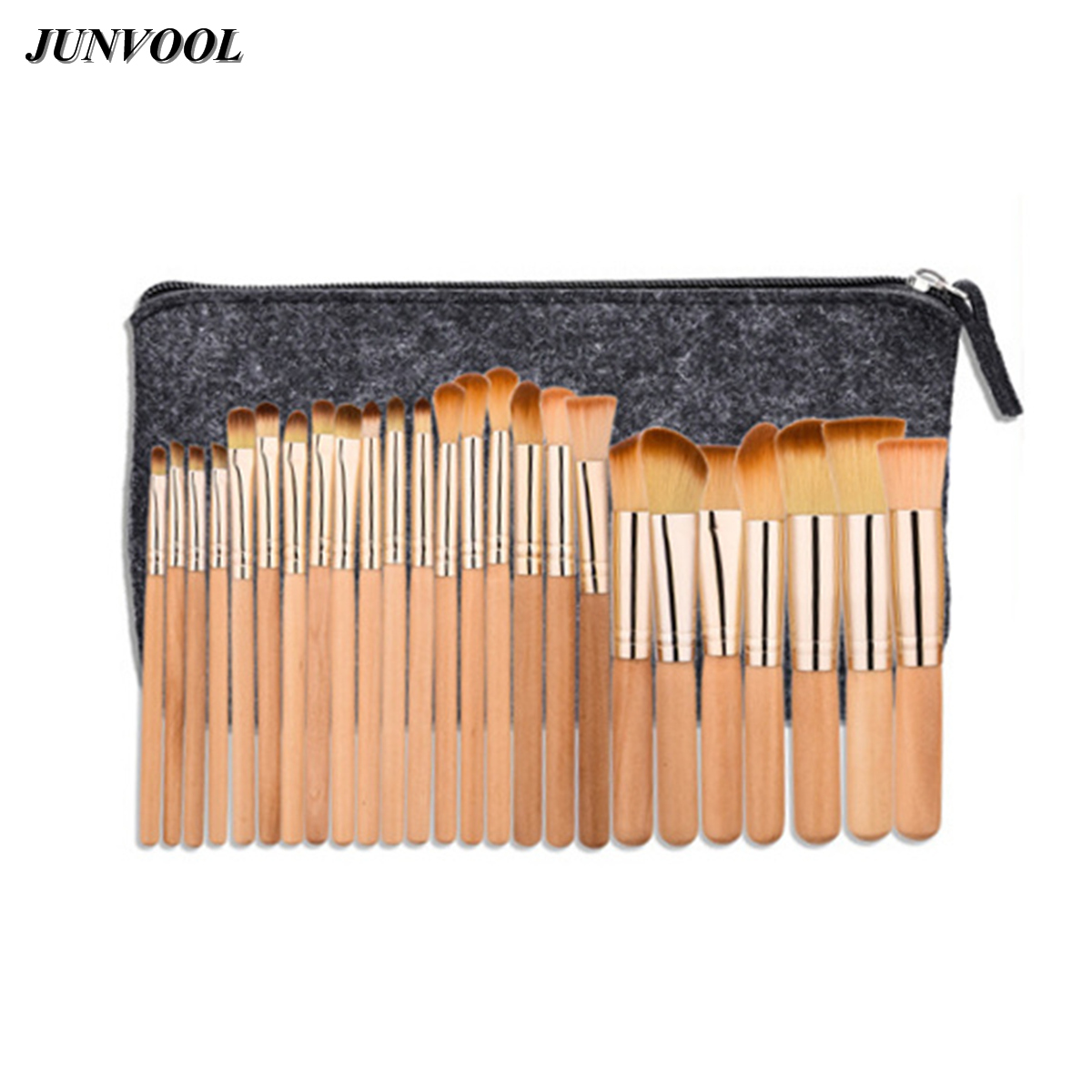 Brown Beauty Make Up Brushes Set 25pcs Foundation Blusher Powder Eyeshadow Blending Eyebrow Eyeliner Lip Brush with Makeup Bag zipower pm 5148