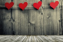 Laeacco Heart Shaped Wooden Board Plank Texture Photography Backgrounds Customized Photographic Backdrops For Photo Studio