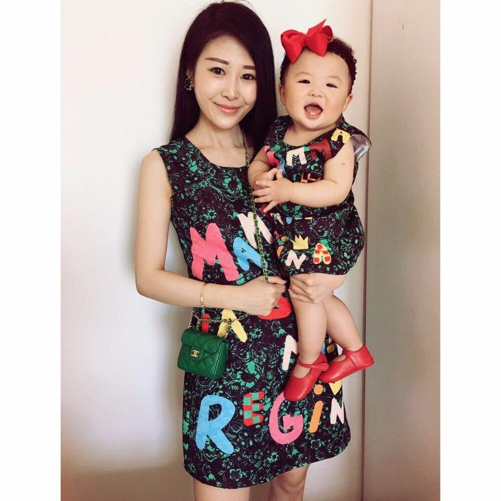 Бренд жінок мода плаття сім'ї вигляд - Дитячий одяг - фото 2