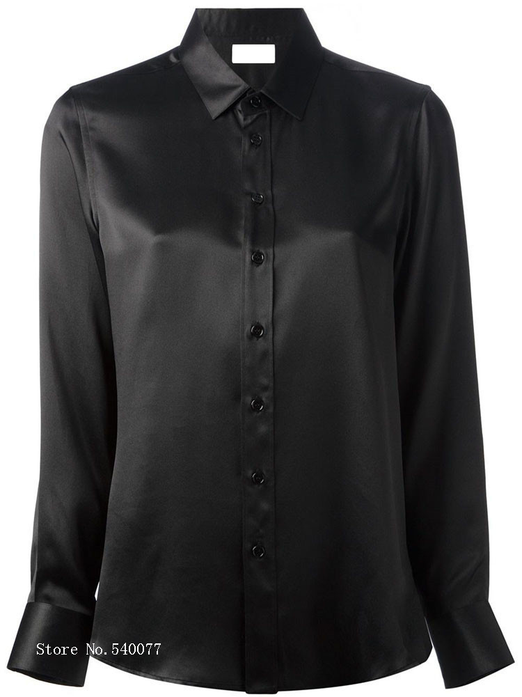 Aliexpress.com : Buy women Fashion button long sleeve Black lapel ...