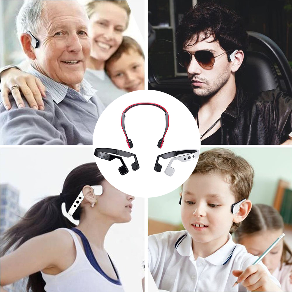 Фотография YKL-701 Wireless Bone Conduction Headphones Bluetooth 4.1 Headset Earphone Stereo Music Mic Hearing Aids Ear Release for sport
