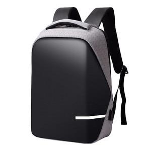 Image 3 - حقائب الظهر الرجال قسط مكافحة سرقة محمول مدرسة السفر حقيبة ظهر مضادة للماء مع منفذ USB