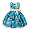 Girls Dress Moana Sleeveless Princess Dresses For Girls kids Fashion Bow Christmas Clothes Baby Girl Dress Children Clothing