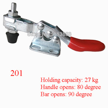 5PCS 27KG 60LBS U Shaped Bar Flanged Base Horizontal Toggle Clamp 201 replacing red long handle u bar 500lbs horizontal toggle clamp 203p