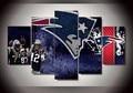 5 Unidades de Los New England Patriots Diseño De Fútbol Fans Cartel de La Moda Lienzo de Pared Moderna de La Pintura Moderna de La Lona Pintura Impreso