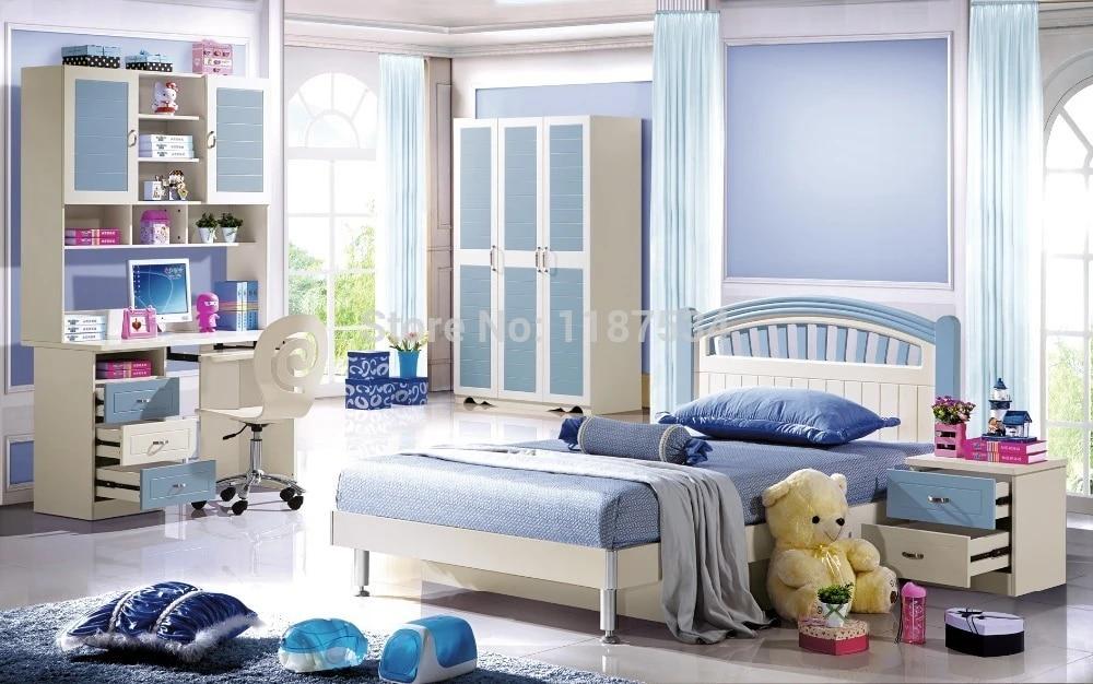 6602 Children Bedroom Furniture Set Wardrobe Nightstand Bed And Desk Four Pieces Bedroom Furniture Set Children Bedroom Furniture Children Furniture Setsbedroom Furniture Desks Aliexpress