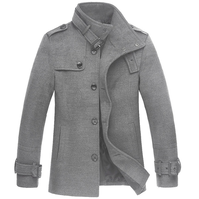 Mens Clothing Wool Pea Coat Winter Woollen Coats Outdoor Solid Jacket UK    US Size Man Fashion Free Shipping-in Wool   Blends from Men s Clothing on  ... 0c3d5a5c1