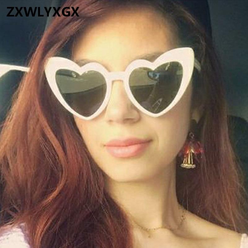 4e6d55c54f6 2018 New Fashion Love Heart Cat Eye Sunglasses Women Brand Designer Vintage  Gradient Sun Glasses Shades Oculos De Sol-in Sunglasses from Apparel  Accessories ...