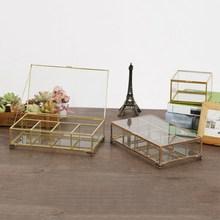 Jewelry Box Glass Arts And Crafts Nordic Minimalist Square Geometry Storage Home Decoration Gift
