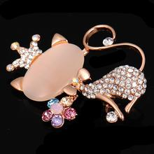 New Popular Brooch Jewelry Ladies Clothing Accessories Decorative Acrylic Resin Cute Kitten Shape Gift