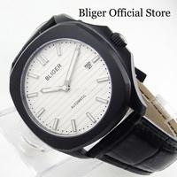 2019 New Arrival Popular BLIGER Black PVD Automatic Men's Watch With White Dial 39mm Time Watch