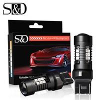 2 stücke 1200Lm T20 W21W LED W21/5W LED WY21W 7440 7443 Led-lampe T25 3157 3156 p27/7w Auto Bremse Reverse Licht 12V Lampe Blinker