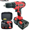 21V Electric Drill Screwdriver Electric Cordless Electronic Mini Drill Lithium Battery Screwdriver 2 Batteries Eu Plug