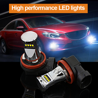 2pcs 6000K White H11 H8 H9 High Power 1800LM By Philips Chips LED Bulbs Car Auto