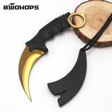 Cuchillo de cuello de garra con vaina caza CS ir supervivencia táctica al aire libre Camping Stiletto Machete defensa Penknife marca herramienta de mano