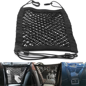 Image 2 - Новый Черный Автомобильный органайзер для заднего сиденья, эластичная Сетчатая Сумка для автомобиля между сумкой, карман держатель для багажа для автомобиля, 30*25 см