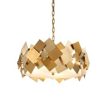 Lámpara colgante dorada de lujo moderna lámparas colgantes accesorios de iluminación para el hogar lámpara colgante Verlichting Luminaria sala de estar Bar tienda café