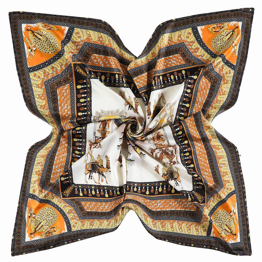 Саржевый Шелковый женский шарф 130*130 см Европейский стиль морская волна лодка квадратные шарфы с принтом высокого качества подарок модные большие шали