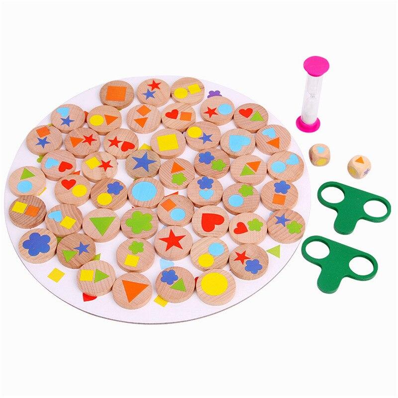 Les enfants améliorent la Concentration formation forme appariement Interaction Parent-enfant trouver Figure mémoire jeu de société jouets éducatifs