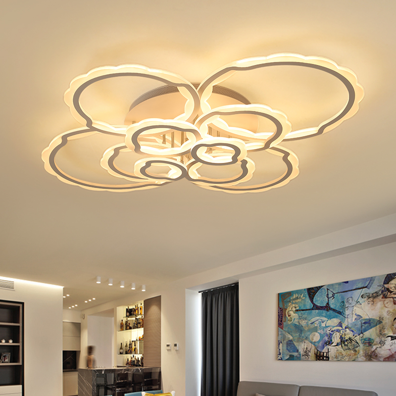 NEO Gleam Living Room Bedroom Modern Led Ceiling Chandelier Lights White Color Circel Rings AC85-265V Study Room Free Shipping neo gleam rectangle modern led ceiling chandelier lights for living room bedroom ac85 265v square ceiling chandelier fixtures