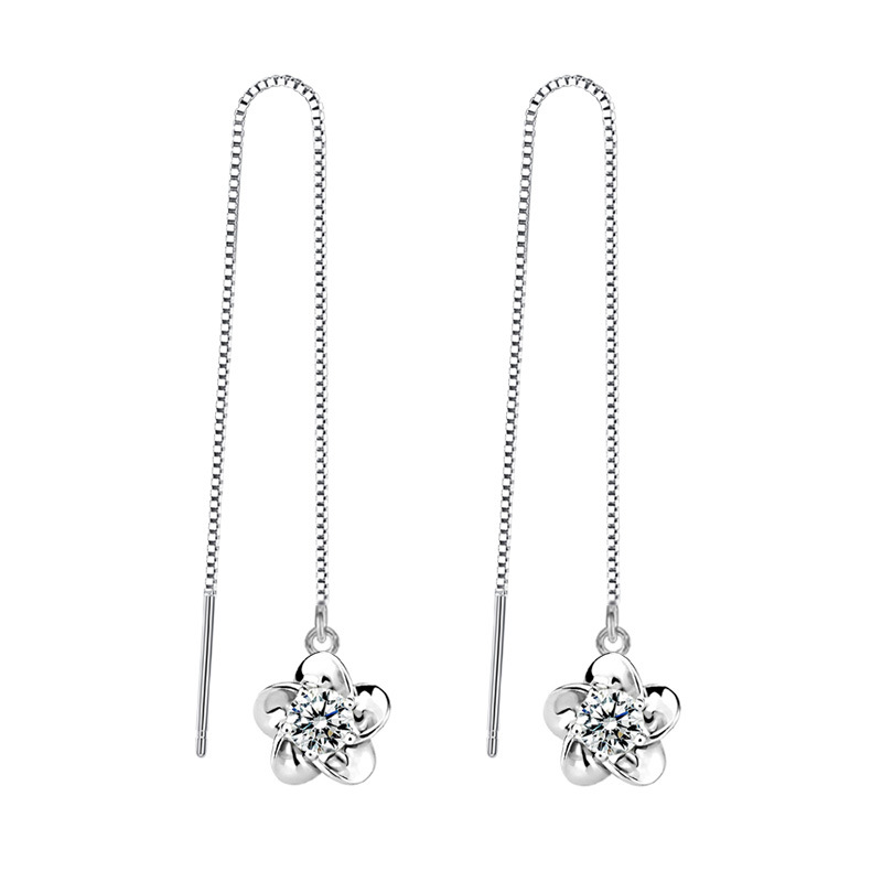 Curly Q Leave Tree of Life Dangle Earrings 925 Sterling Silver