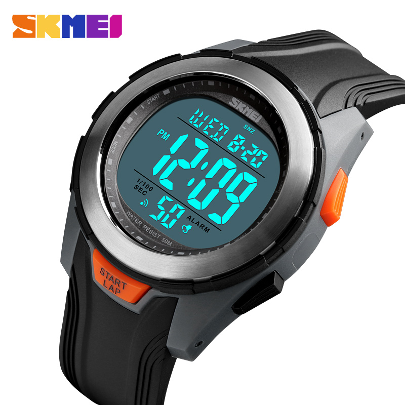 <font><b>SKMEI</b></font> Luxury Brand Sports Watches LED Digital Sport Mens Watches Waterproof Watch Male Clock Relogios Masculino Military Watch image