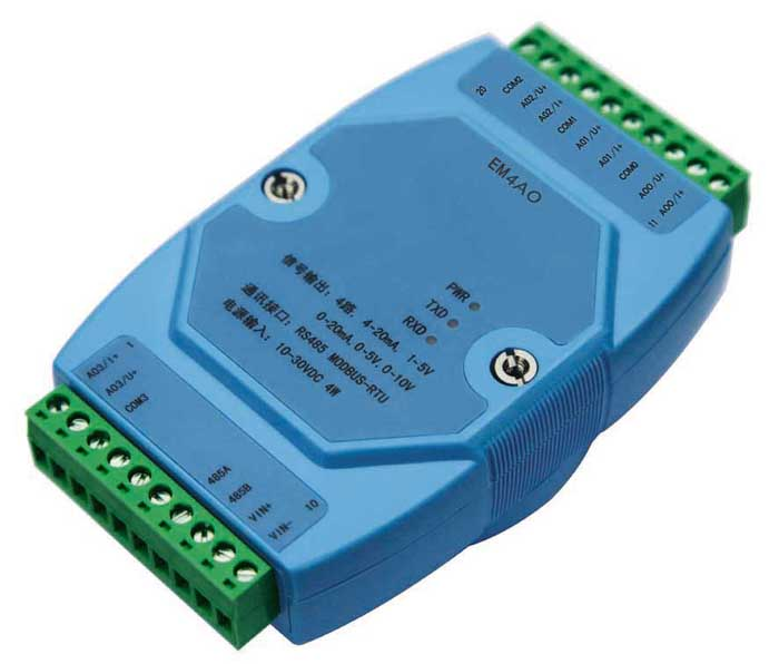 0-20mA/4-20mA/0-5V/1-5V/0-10V analog output module Modbus RS485 voltage to turn current 0 5v3 3v 10v to 4 20ma 0 20ma 1 5v to 4 20ma potentiometer tune