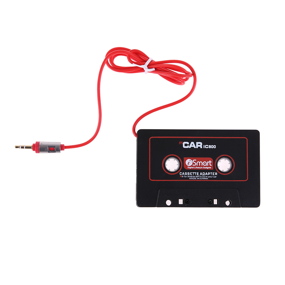 Cassette Aux Adapter 3.5mm Jack Plug Car Cassette Tape Cassette Mp3 Player Converter For iPod iPhone MP3 AUX Cable CD Player  new jack aux audio mp3 player input adapter cable for mazda 6 m6 m3 1pcs 3 5mm